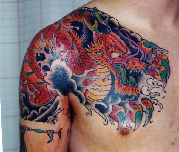 Traditional dragon tattoo by keith underwood tattoonow for Taylor st tattoo