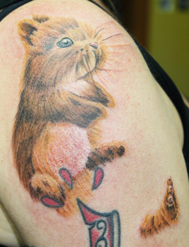 Bunny with severed leg by david dettloff tattoonow for Ink lab tattoo