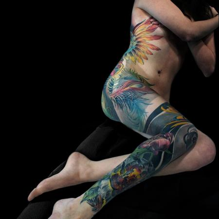 Tattoos - Phoenix Back and Legsleeve - 133068