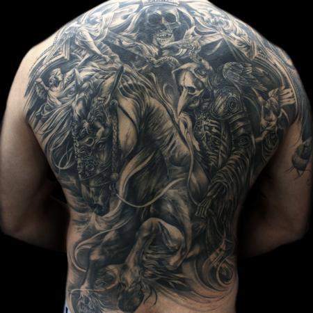 Tattoos - Pestilence back - 125726