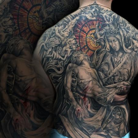 Tattoos - Pieta Backpiece - 125299