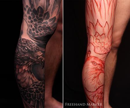 Tattoos - Phoenix Hawk - 129734