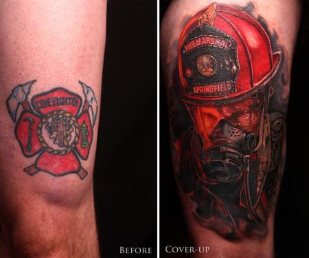 Tattoos - Firefighter Coverup - 129737