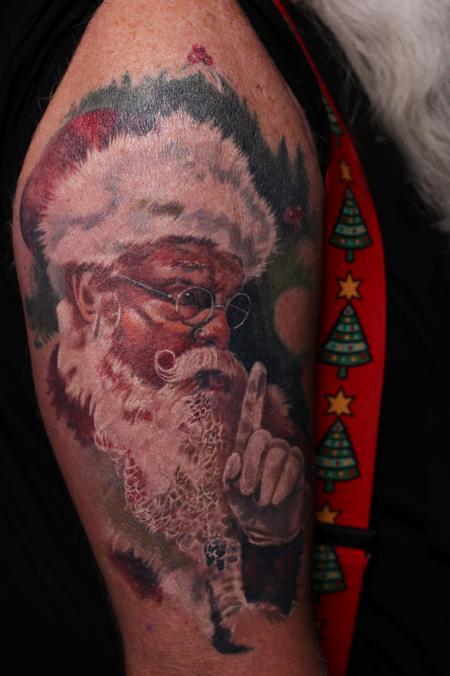 Tattoos - Santa Claus Half Sleeve - 132495
