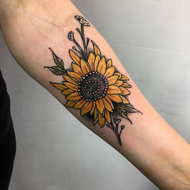 Sunflower Tattoo By Tyler Nguyen Tattoonow