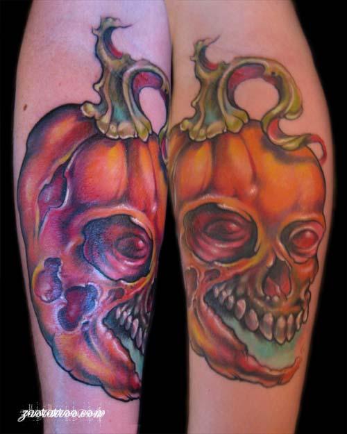 Muriel Zao - Evil Jack O Lantern Tattoo