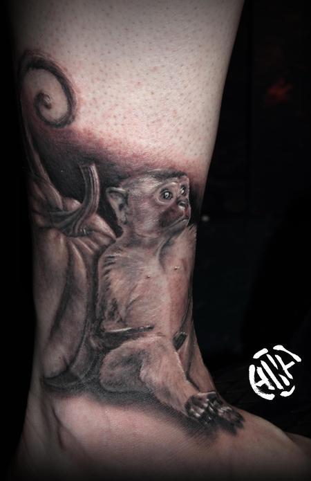 Tattoos - Monkey with Pumpkin - 131699