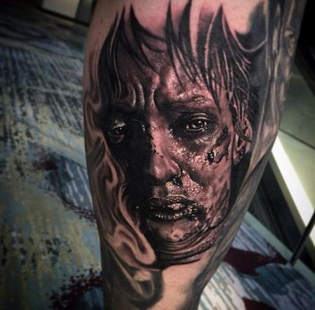Tattoos - Uma Thurman Portrait from a 'Kill Bill' Scene - 101222