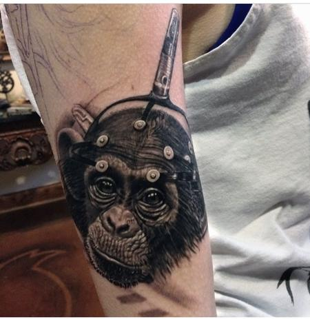 Tattoos - Chimp with Brain Probes - 93657