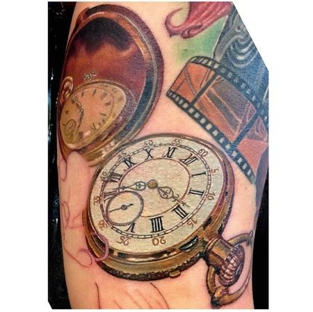 Tattoos - Pocket Watch In Progress - 93925