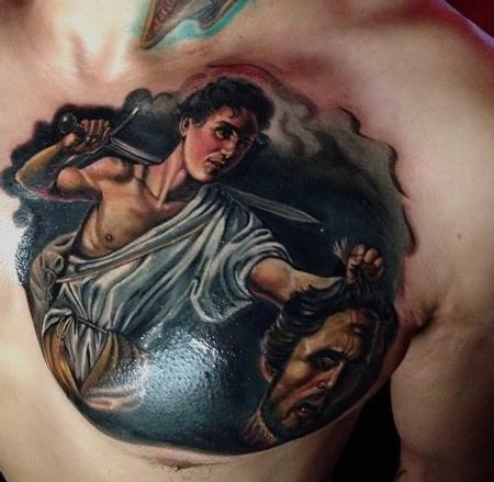 Tattoos - Caravaggio Painting Cover-Up  - 94330