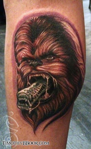Tattoos - chewbacca alien - 67999
