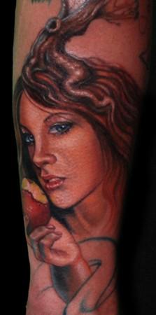 Tattoos - Portrait of Eve tattoo - 45172