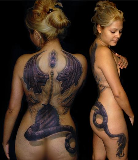 Tattoos - Dragon in humans clothing. - 59965