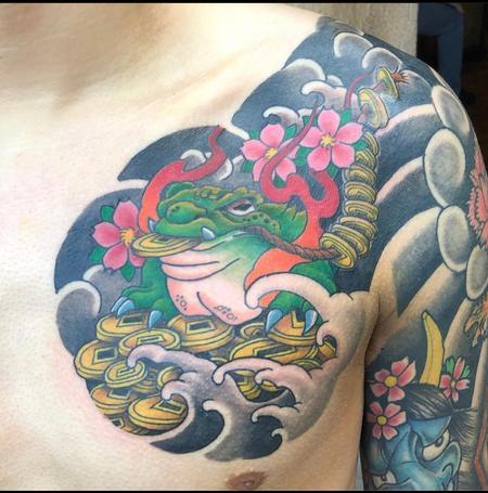 Money toad chest panel tattooed Design Thumbnail
