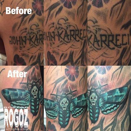 Tattoos - Death moth coverup tattoo - 119628