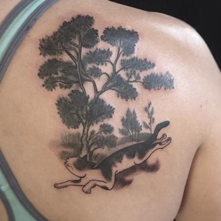 Bri Howard - Cat nature tattoo