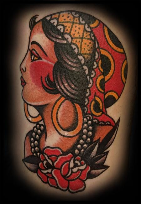 American Traditional Gypsy Head Design Thumbnail