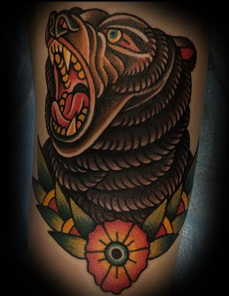 Nick Rose - Traditional Bear Tattoo