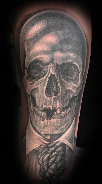 Shane Watkins - Skull and Noose Tattoo