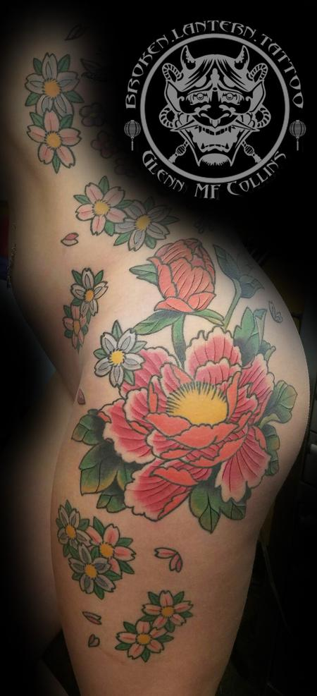 9d377d0cffff8 Peony(Botan) and Blossums by Glenn Collins : Tattoos