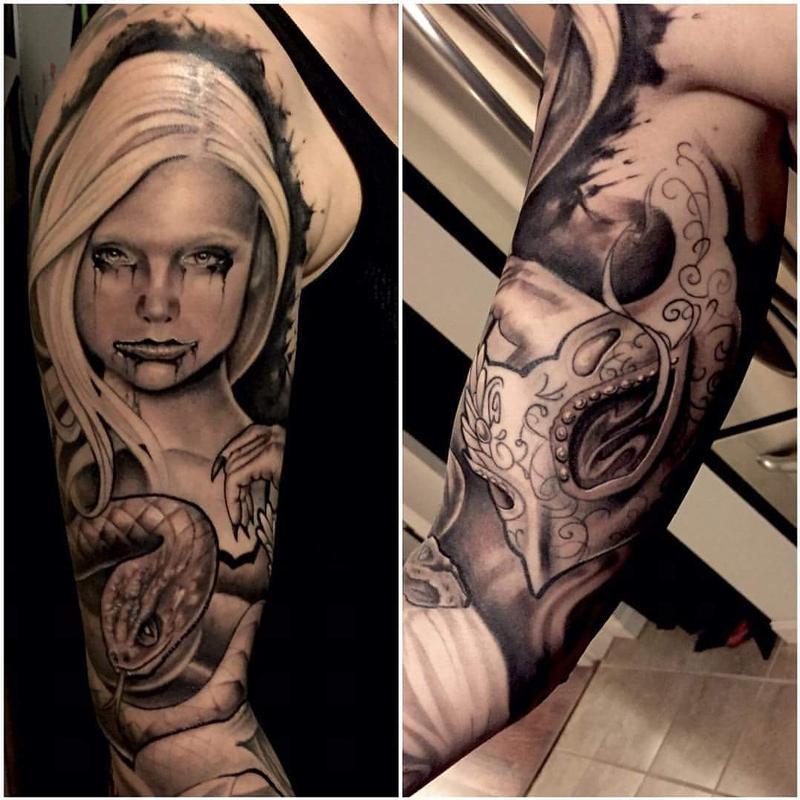 b2688e3c9 Serpent Lady/ Mask by Chad Miskimon: TattooNOW :