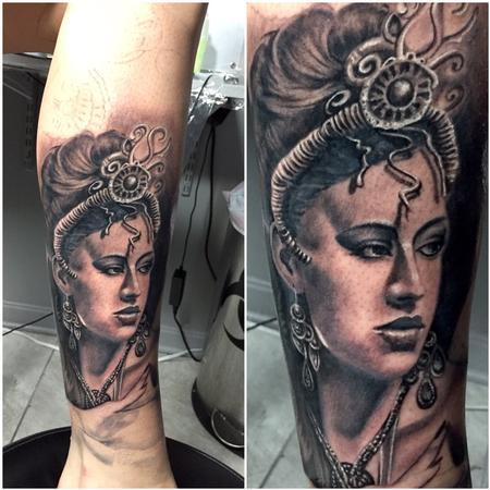 Tattoos - Start of Egyptian Sleeve - 122444