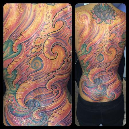 Tattoos - Lady Bio Back Piece - 122418