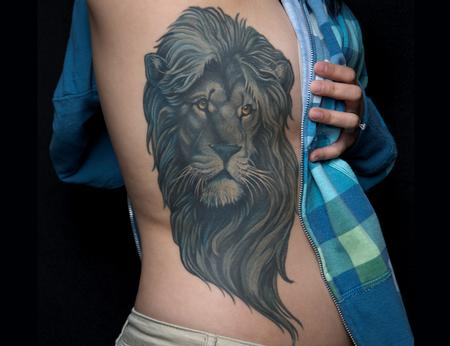 Tattoos - Monochromatic Lion - 106826