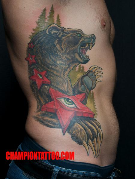 Tattoos - Cali Bear - 107846