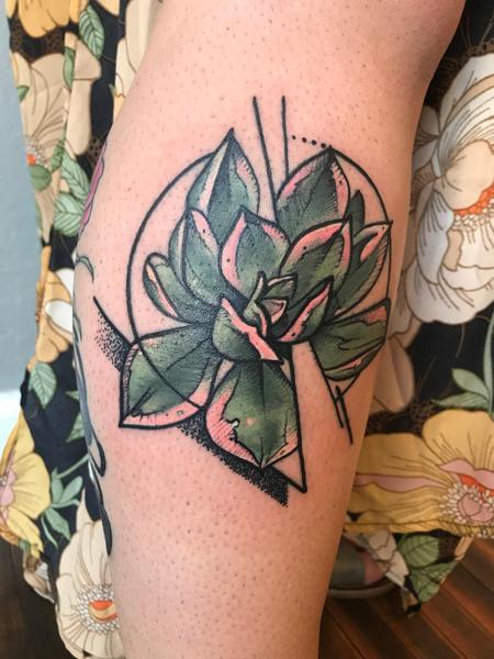 Succulents  Tattoo Design Thumbnail