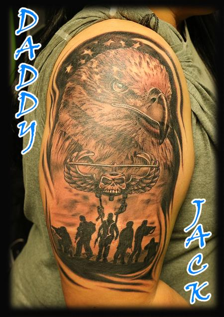 Tattoos - Eagle_AmericanFlag_soldiers_AirAssault_ByJack - 132964
