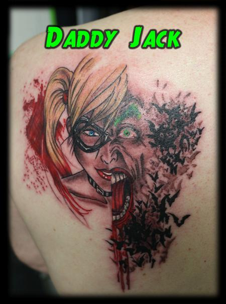 Tattoos - Joker_HarleyQuinn_bats_animated_tattooByJack - 132598