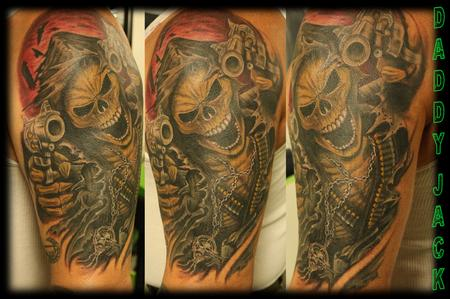 Tattoos - Armed Skeleton Reeper - 129500