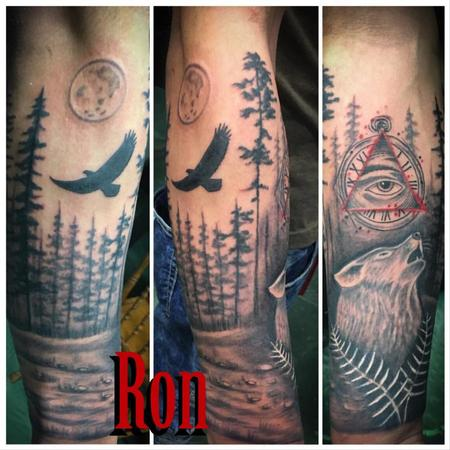 Tattoos - Wolf and All Seeing Eye - 137249