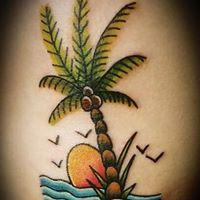 Tattoos - Island Palm Tree - 134782