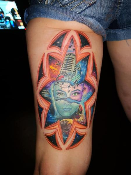 Tattoos - Morph Microphone Woman - 134773