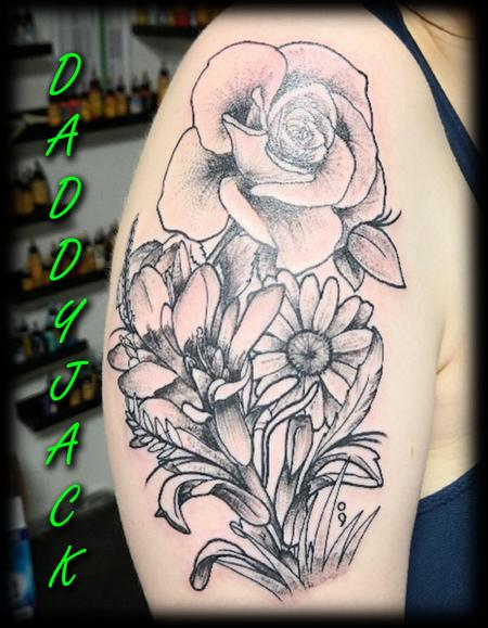 Dot Work Flowers By Jack