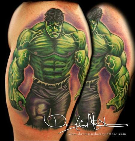 Lovely Rebel Muse Tattoo : Tattoos : David Mushaney : The Incredible Hulk Tattoo