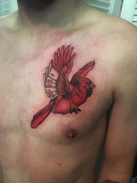 Playing Card Cardinal Tattoo Thumbnail