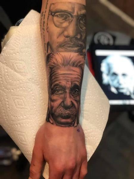 Albert Einstein Tattoo Thumbnail