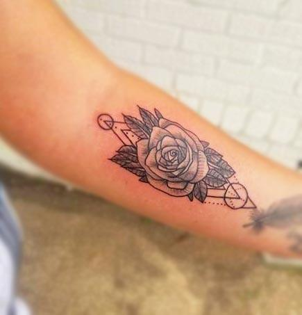Tattoos - Geometric ft. dot work rose - 134508