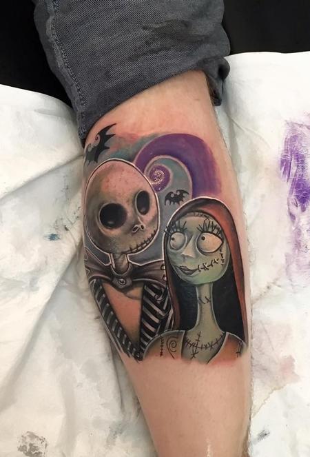 Joshua Nordstrom - Jack and Sally Tattoo
