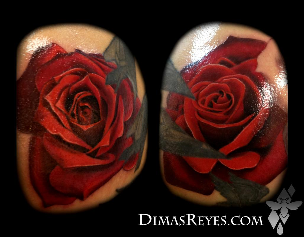 Color Realistic Rose Tattoos by Dimas Reyes: TattooNOW :