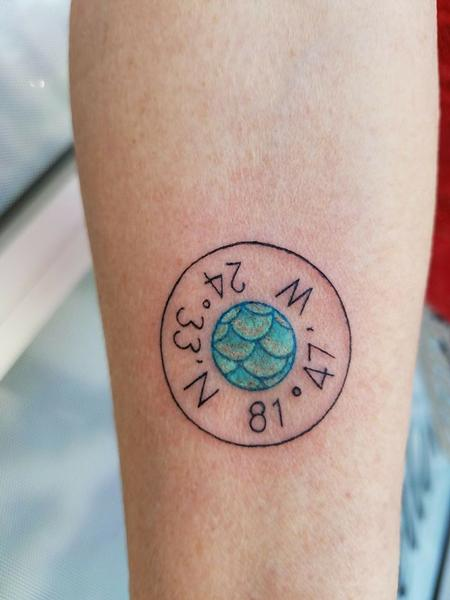 Tattoos - Mermaid Coordinate Charm - 129274