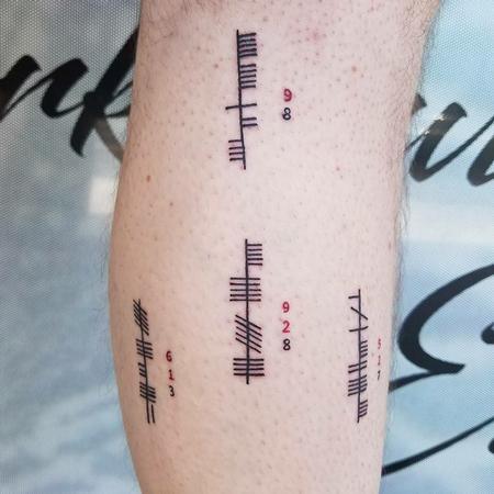 Stefanee Schofield - Ogham Alphabet Tattoo