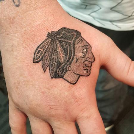 Tattoos - Chicago Blackhawk Sports Logo Tattoo - 127030