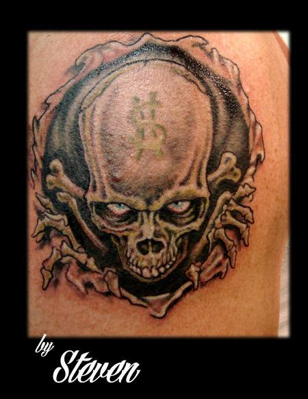money skull by steve cornicelli tattoos
