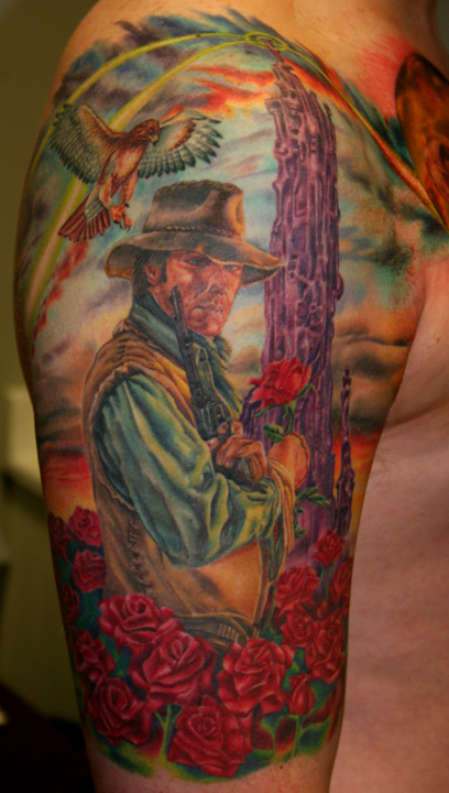 dark tower gunslinger by tim harris tattoonow. Black Bedroom Furniture Sets. Home Design Ideas