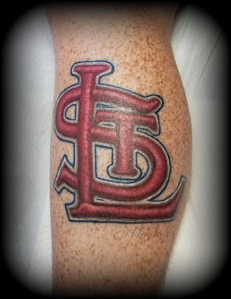 St Louis Cardinals stitched emblem tattoo Design Thumbnail